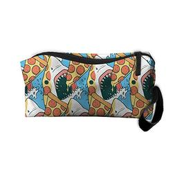Pizza Shark Pouch Handy Storage Pouch Travel Makeup Bag Oxfo