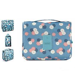 Portable Travel Makeup Cosmetic Bag - Waterproof Haning Trav