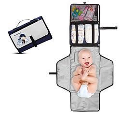 Crystal Baby Smile Portable Changing Pad - Diaper Clutch - L
