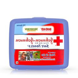 Portable Travel First Aid Kit, 70 Pieces, Plastic Case