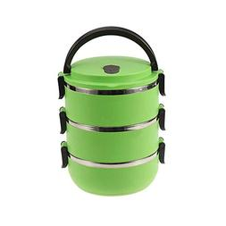 GXSQLW Portable Stainless Steel Insulated Lunch Box, Lunch B