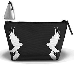 Portable Travel Storage Bags Mirror Dove All Printed Clutch