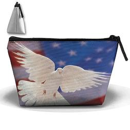 Portable Travel Storage Bags White Dove Of Peace All Printed