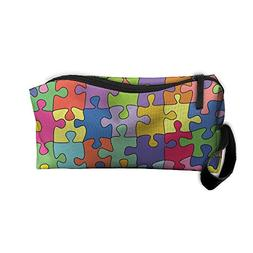 Portable Unisex Travel Storage Pouch Autism Awareness Puzzle