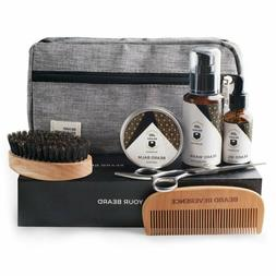 Premium Beard Grooming Kit with Upgraded Travel Bag - All Na