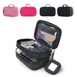 Make Up Bags for Women with Mirror Beauty Makeup Brush Bag w