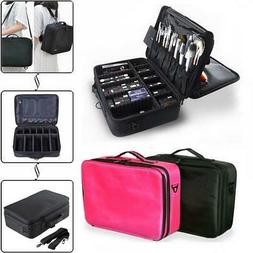 Professional Makeup Bag Cosmetic Case Storage Handle Organiz
