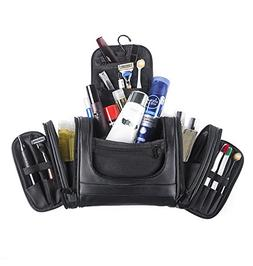 pu leather hanging toiletry bag