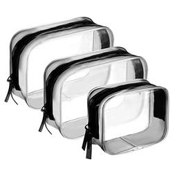 ef0640126e1a BBTO 3 Pieces PVC Travel Toiletry Bag Co...