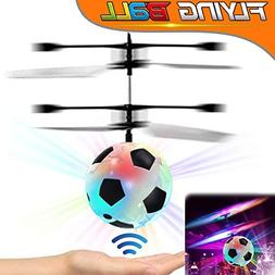 RC Flying Ball, Kids Flying Toy Air Soccer with Led Light up