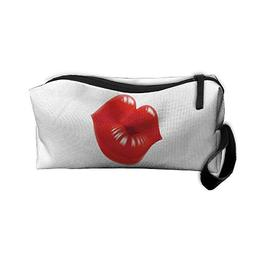 Red Lips Makeup Bag Zipper Organizer Case Bag Cosmetic Bag P