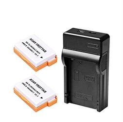 Happyjoy 2-Pack Replacement Canon LP-E8 Battery with Charger