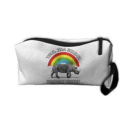 Rhinos Are Just Chubby Unicorns Makeup Bag Zipper Organizer
