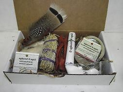 Sage Smudge Kit Travel Kit Gift Set with message Card