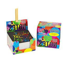 Scratch Off Mini Notes + 2 Stylus Pens Kit: 150 Sheets of Ra