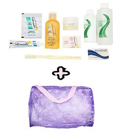 10 Piece Travel Size Shower Toiletries with Bag - Small Size