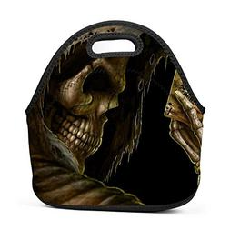 SeLub Skeleton Hand Poker Card Lunch Bag Portable Bento Pouc