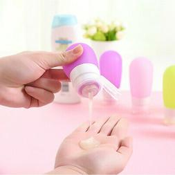 Small Rugged Silicone Travel Refillable Bottle Lotion Shampo