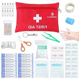 Small Travel First Aid Kit - 76 Piece Clean Treat and Protec