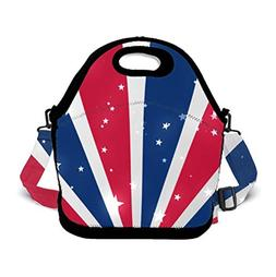 POP MKYTH Soft Neoprene USA Patriotic Stripes American Flag