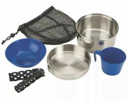 Coleman Stainless Steel 6-piece Mess Kit Silver Camping Trav