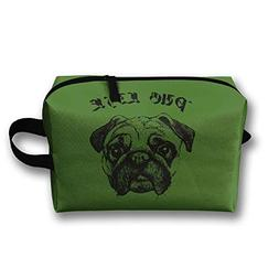 Storage Bag Travel Pouch Pug Life Purse Organizer Cosmetic S