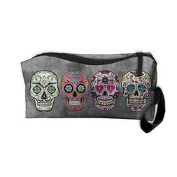 Sugar Skulls Portable Storage Pouch Travel Makeup Bag Oxford