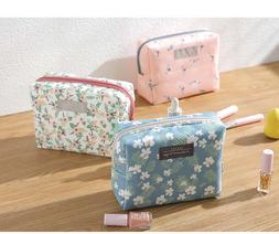 Sweet Floral Cosmetic <font><b>Bag</b></font> <font><b>Trave