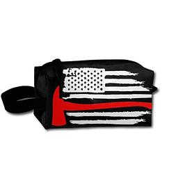 Thin Red Line Flag Axe Firefighter Portable Make-up Receive