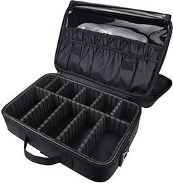 Large Professional Make up Box Beauty Travel Case Cosmetic B