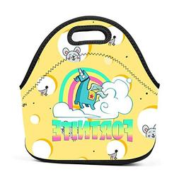 xxxoiu for-tnite Unicorn Neoprene Lunch Bag Thick Insulated