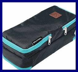 Well Traveled Toiletry Bag For Makeup Shaving Kit Cosmetics