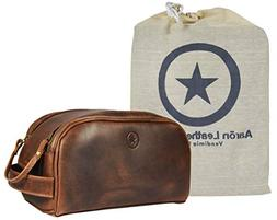 Leather Toiletry Bag for Men | Grooming Travel Kit | By Aaro