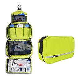 Travel Toiletry Bag, MAXCHANGE 4-Compartments Portable and F