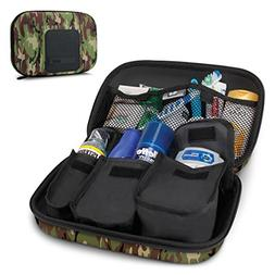 USA Gear Toiletry Travel Bag Organizer Kit with Customizable