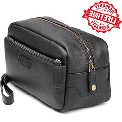 Toiletry Bag-Leather Toiletry Bag Dopp Kit – Mens Toiletry