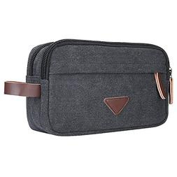 Mens Toiletry Bag, Vintage Canvas Travel Toiletry Bag Shavin