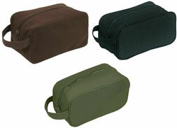 Toiletry Travel Shaving Kit Bag Cotton Canvas With Carry Str