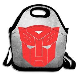Bakeiy Transformers Live Logo Lunch Tote Bag Lunch Box Neopr