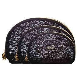 Transparent Lace Makeup Pouch Women Travel Cosmetic Wash Toi
