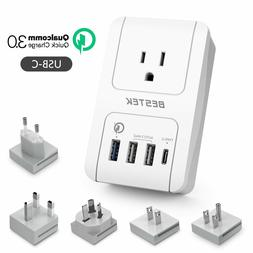 Travel Adapter Kits by BESTEK - Dual 2.4A Smart Identify  US