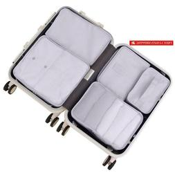 Travel Packing Cubes 7 Set, Jj Power Luggage Organizers With