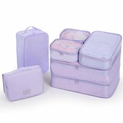 Travel Packing Cubes 7 Set Luggage Organizers with toiletry