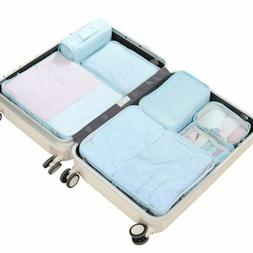 Travel Packing Cubes 7p/JJ POWER Luggage Organizers with toi