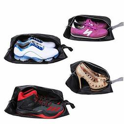 Travel Shoe Bags Set Of 4 Waterproof Nylon With Zipper For M