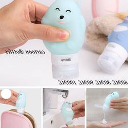 Travel Silicone Bottle Shampoo Shower Gel Lotion Multi-purpo