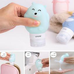 Travel Silicone Bottle Shampoo Shower Gel Lotion Sub-bottlin