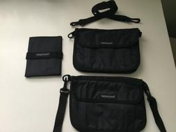 Travel Smith Smart Pack Organizers 3-piece Kit, Black/Clear