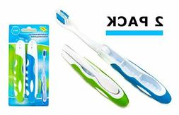 Travel Toothbrush, On The Go Folding Feature, medium bristle
