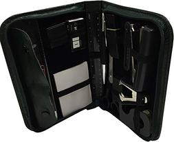 Traveling Stationary Kit Set 15 Piece in a Green Zippered Ca